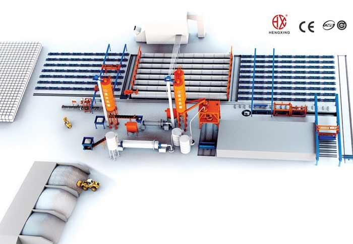 加气砖生产线设备:加气混凝土f在房屋改造应用方面做了哪些