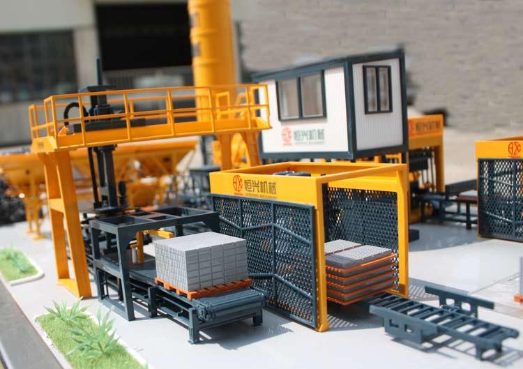 恒兴全自动水泥制砖机年产6000万块水泥砖让用户青睐